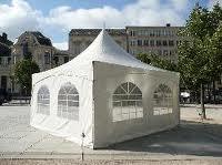 Pagode-tent 5 x 5 meter ( incl. op & afbouw )