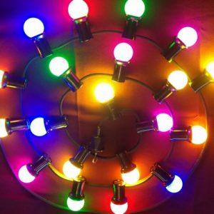 Feestverlichting gekleurde lampen 10 mtr. 220 v