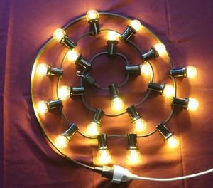 Feestverlichting witte lampen per 10 mtr., 220 v