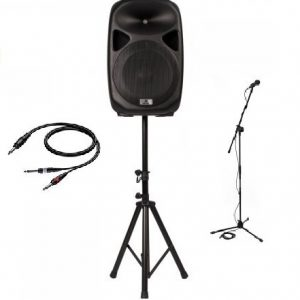 Portable PA-set / Sprekers-set ( 1 x 400 watt )
