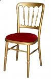 Gouden franse stoel met rode zitting