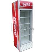 Koelkast 300 liter Met glazendeur ( Kleur : Coca Cola )