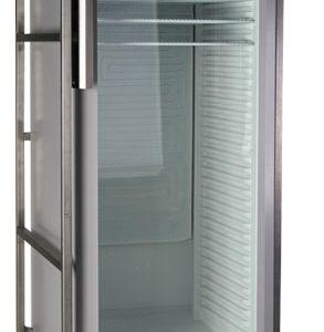 Koelkast 388 liter met glazen deur ( kleur wit op rolcontainer )
