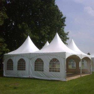 Pagode-tent 10 x 10 meter ( incl. op & afbouw )