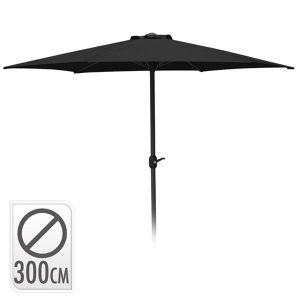 Parasol 3 mtr. Ø kleur zwart ( exclusief parasolvoet )