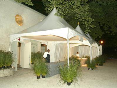 Pagode-tent 5 x 15 meter ( incl. op & afbouw )