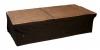 Podiumrok 30cm hoog zwart 6m geplooid