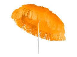 Raffia parasol oranje