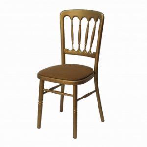 Gouden franse stoel met goude zitting