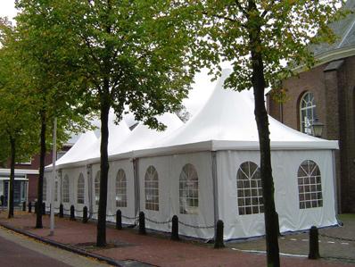 Pagode-tent 5 x 20 meter ( incl. op & afbouw )